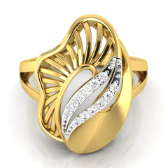 diamond studded gold jewellery - Yeira Cocktail Ring - Pristine Fire - 2
