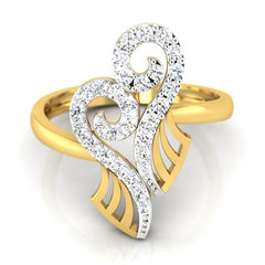 diamond studded gold jewellery - Yoanna Fashion Ring - Pristine Fire - 2