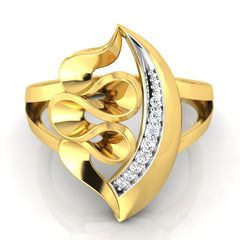 diamond studded gold jewellery - Yolie Cocktail Ring - Pristine Fire - 2