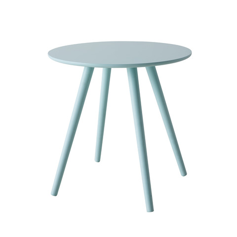 Steel Blue Linen Contour Dining Chair