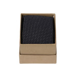 Ortc Man Cotton Linen Ties, Navy Pin Dot Polka, O/S
