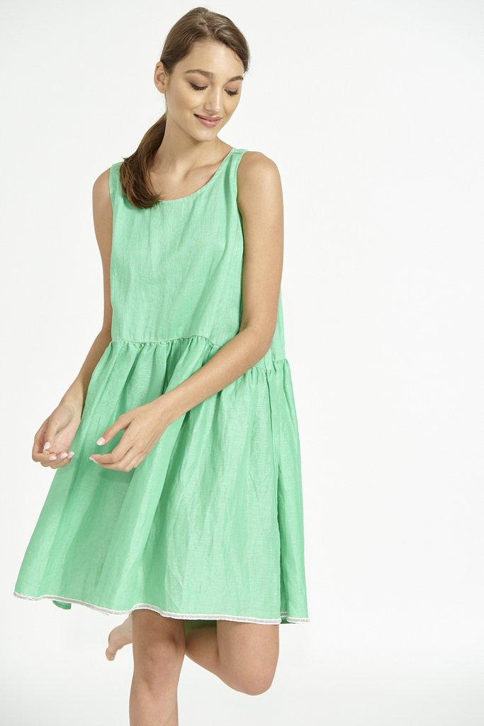 Alessandra Sleeveless BabyDoll Dress
