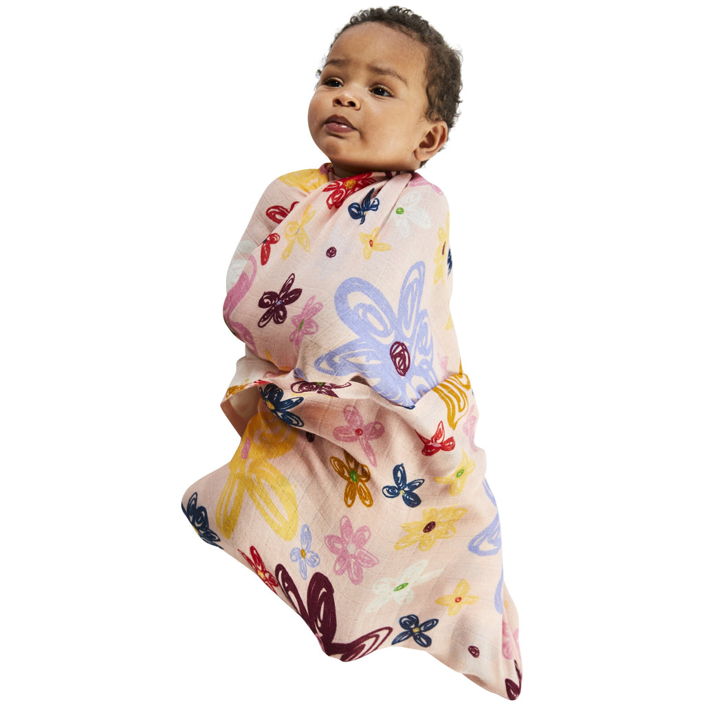 Kip & Co Pansy Bamboo Baby Swaddle  OS