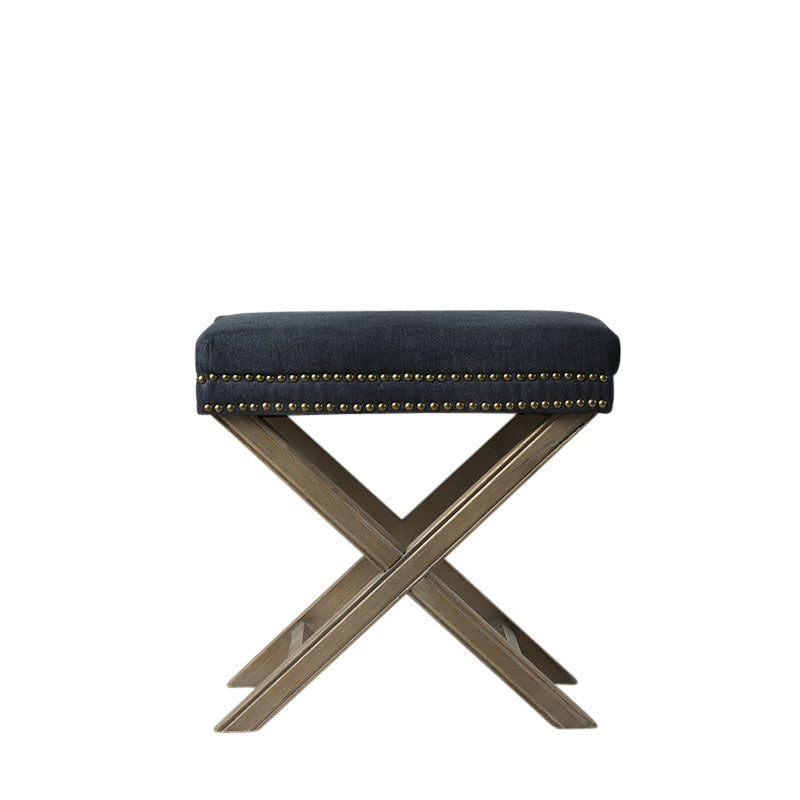 Rectangular Studded Ottoman