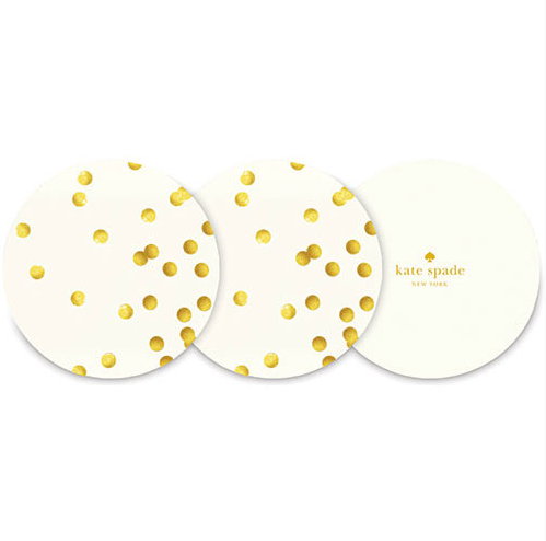 Kate Spade Gold Dots Coaster 24 set