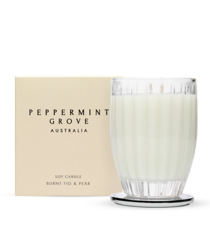 Peppermint Grove Burnt Fig & Pear Candle 350g