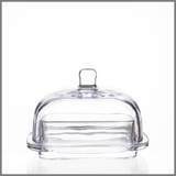 Large Glass Butter Dish
