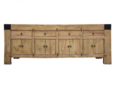 Natural Timber 4 Drawer Cabinet