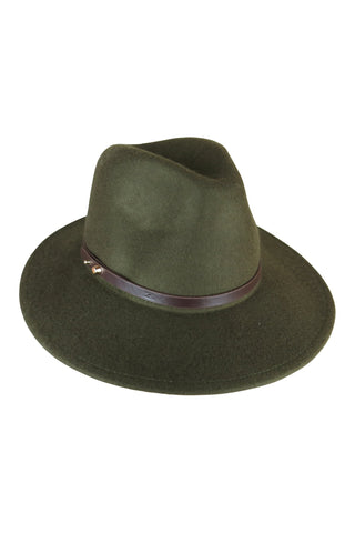 Black Felt Fedora with PU Band