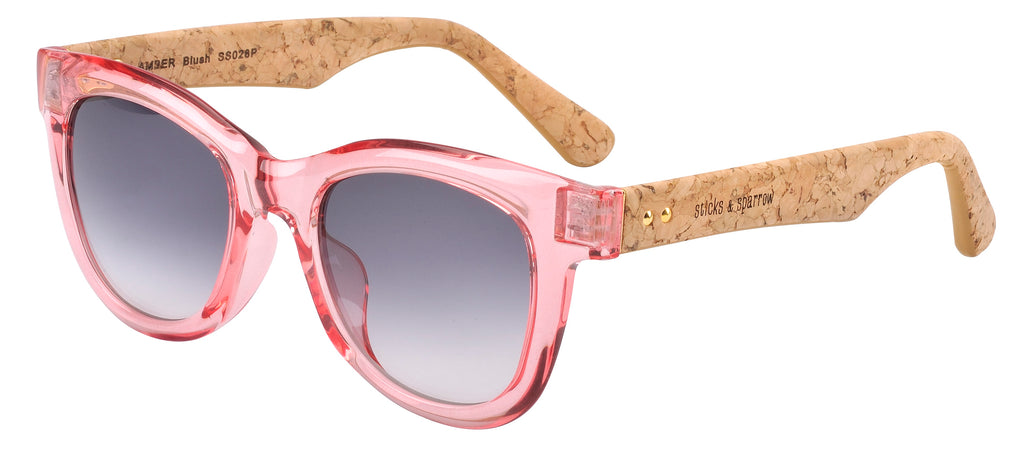 Sticks & Sparrow Amber Crystal Blush Sunglasses