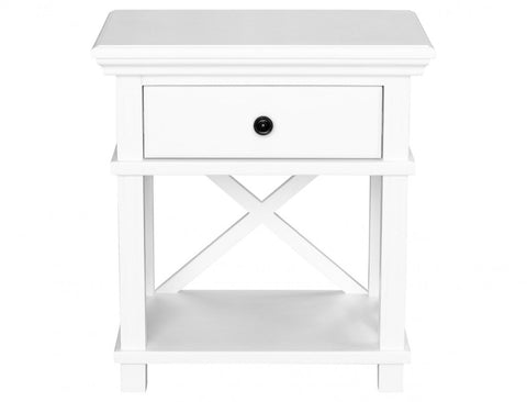 Sorrento White Bedside Table