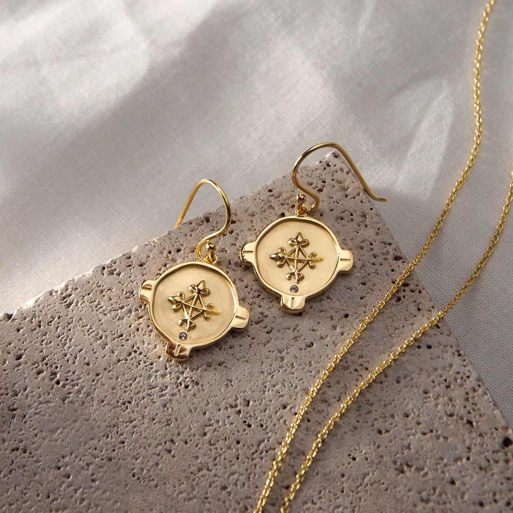 Murkani Hope Earrings 18KT Yellow Gold