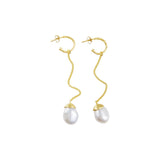 Fairley Baroque Pearl Drop Earrings