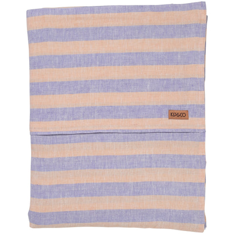Kip & Co Sicilian Seaside Stripe linen Flat Sheet Single