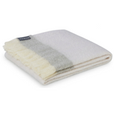St. Albans Mohair Throw Rug Mineral