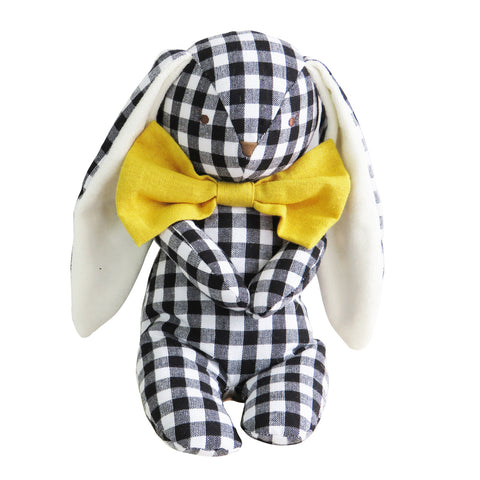 Alimrose Floppy Bunny Black Gingham