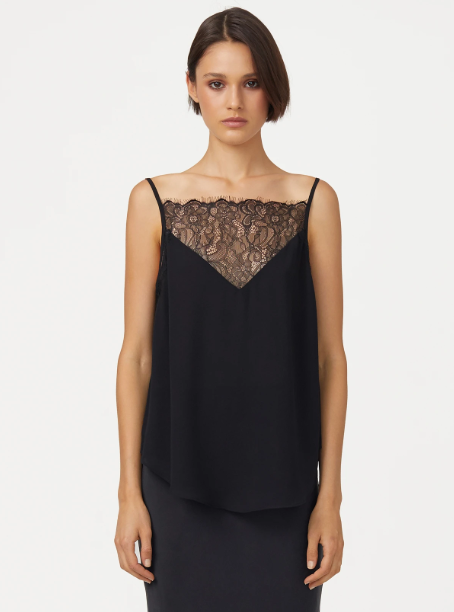 Luxe Deluxe Stardust Lace Trim Cami