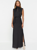 Luxe Deluxe Look Again High Neck Maxi Dress
