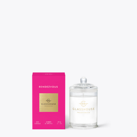 Glasshouse 60g Candle - Rendezvous