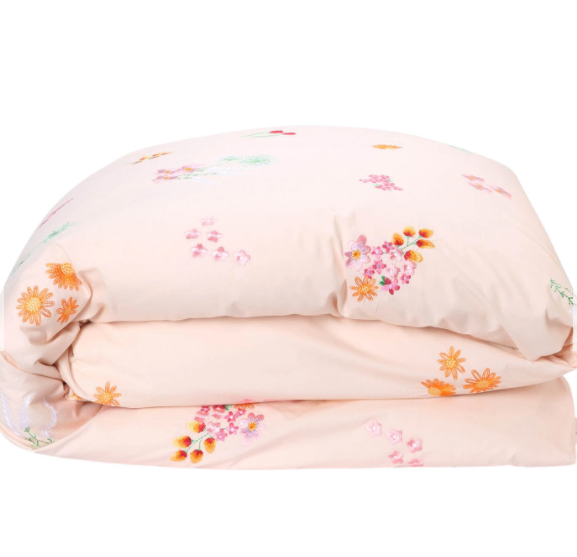 Kip & Co Wild Flower Embroidered Cotton Quilt Cover - Single