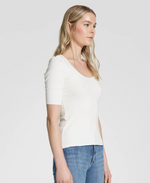Nobody Denim Luxe Rib Scoop Tee