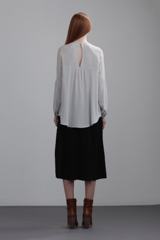 The Dreamer Label Bermuda Sheer Shoulder Blouse