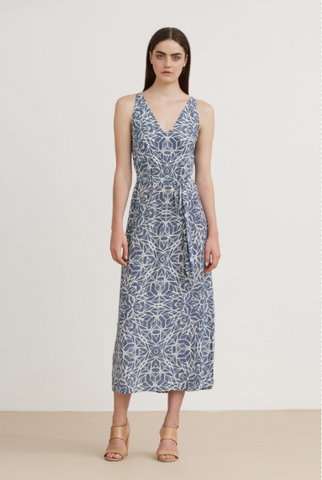 The Dreamer Label Kaleido Silk Maxi Dress