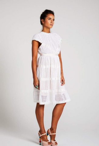 Binny Queen Anne Lace Embroided Dress