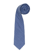 ORTC Man Blue Polka Cotton Linen Tie