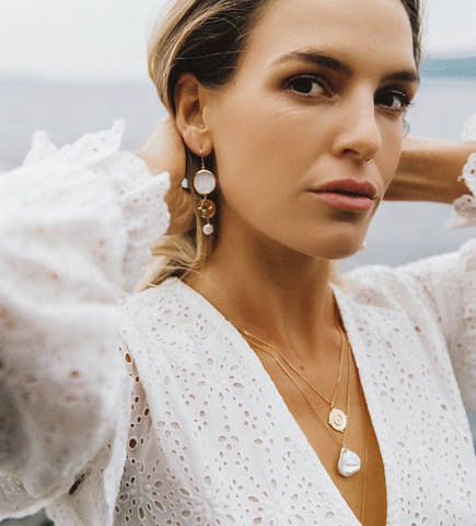 Kirstin Ash By The Sea Earrings- Rose Gold