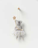 North Pole hanging koala girl w champagne star