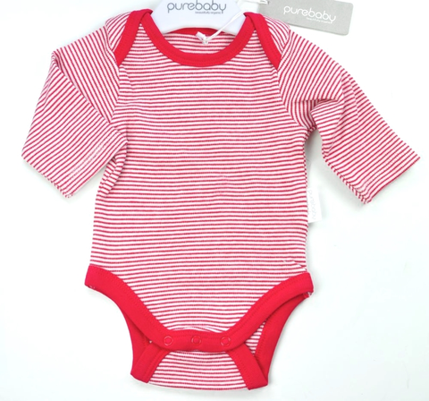 Purebaby Long Sleeve Bodysuit