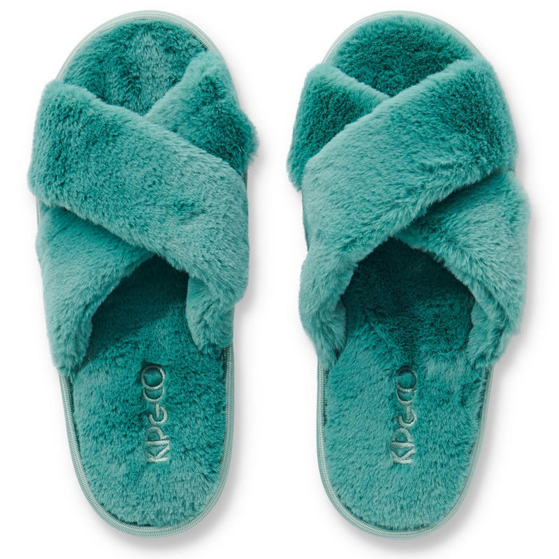 Kip & Co Jade Green Adult Slippers