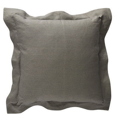 Cumulus Round Velvet Cushion Grey