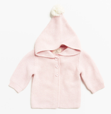 Wilson & Frenchy Powder Pink Knitted Jacket with Hood