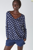 Alessandra Painted Spot V-Neck