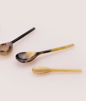 Horn Salt Spoon Small