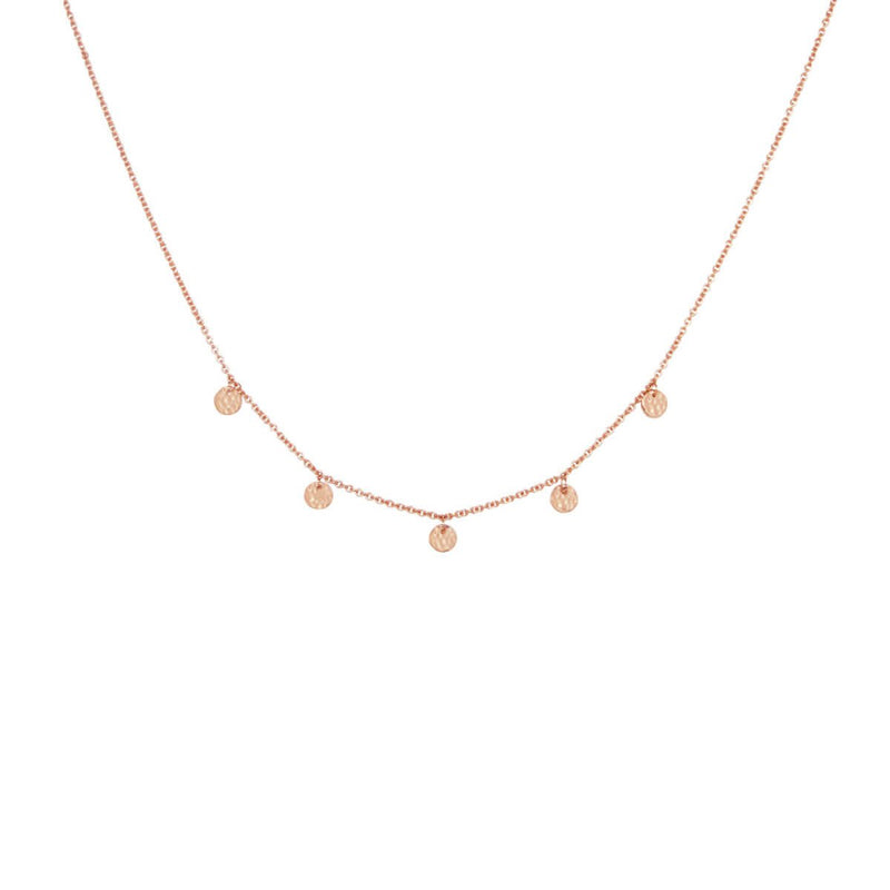 Murkani Grace Disc Choker Rose Gold Plate