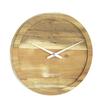 Pure Round Solid Wood Clock
