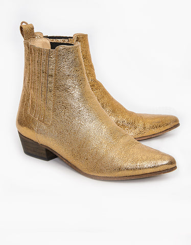 Ivylee Copenhagen Bailey Cracked Metallic Boot