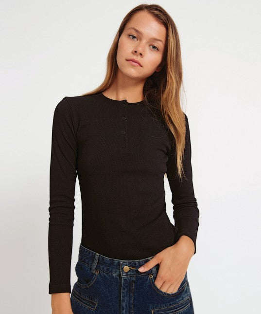 Morrison Moss Ribbed Top