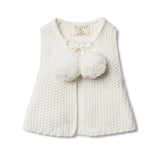 Wilson & Frenchy Knitted Vest With Pom Poms