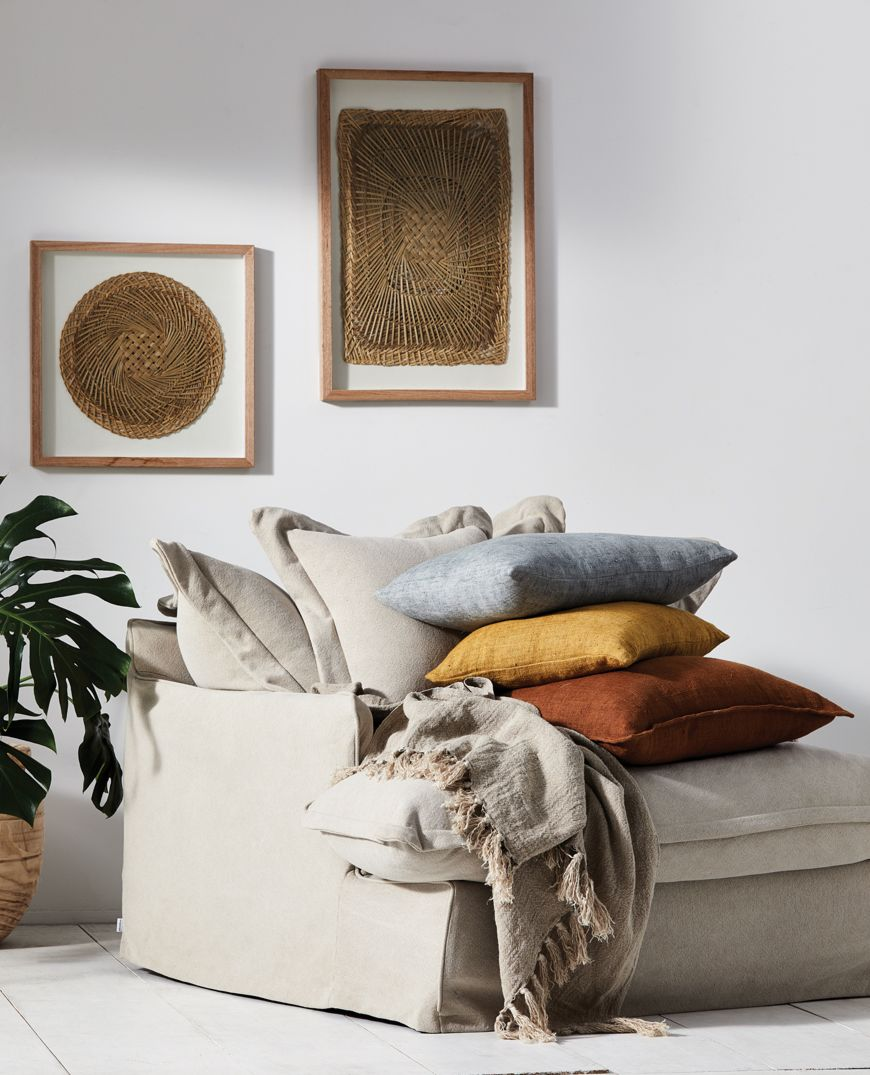 Christophe Linen Cushion Mustard 60x40cm