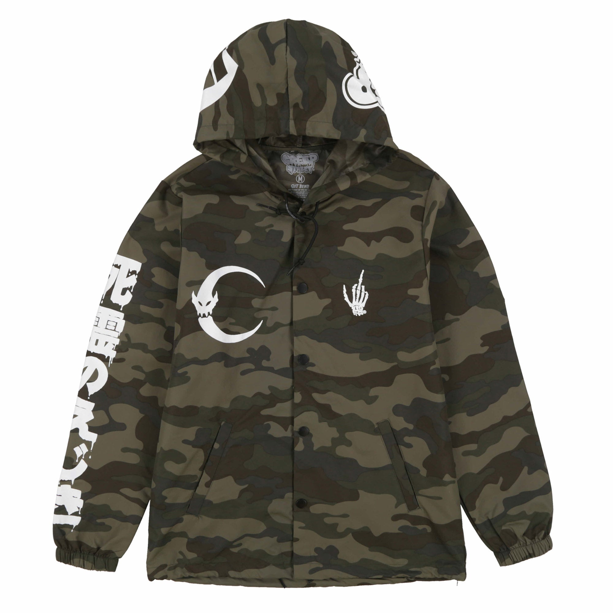 BURN IT DOWN HOODED COACHES JACKET
