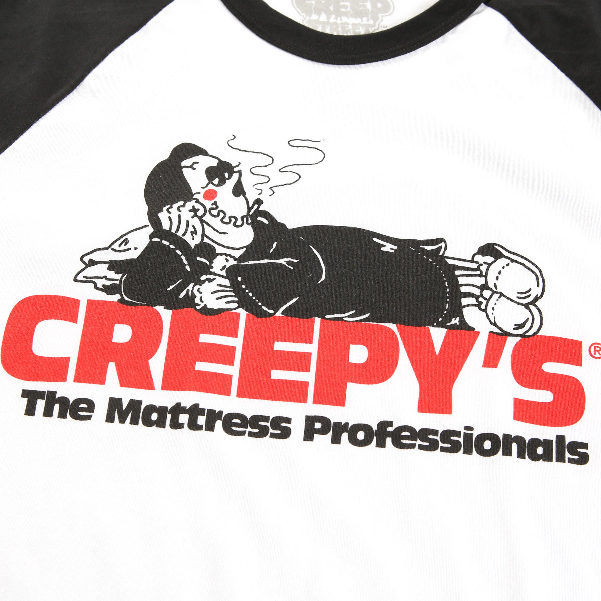 CREEPY MATTRESS RAGLAN