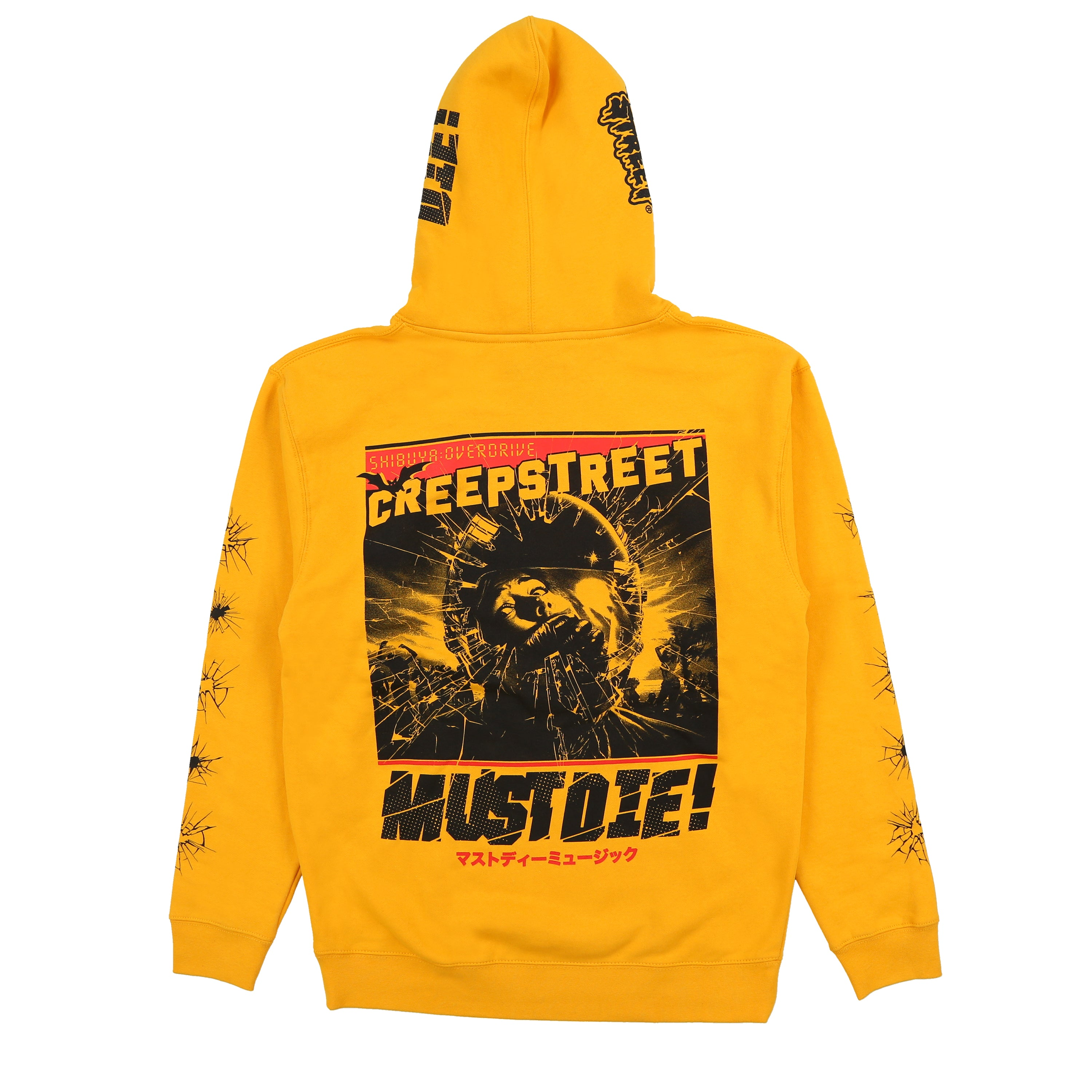 CREEP STREET x MUST DIE! SHATTERED HOODY