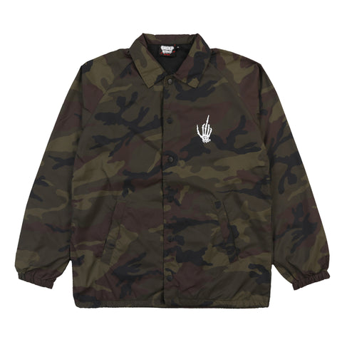 SATAN IS WAITIN' CAMO COACHES JACKET