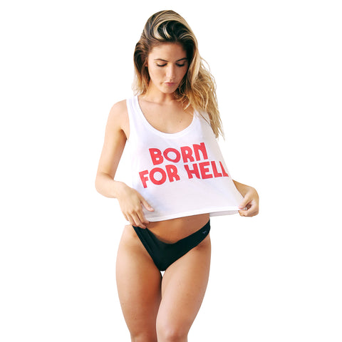 SEE YOU IN HELL SLEEVELESS CROP TOP
