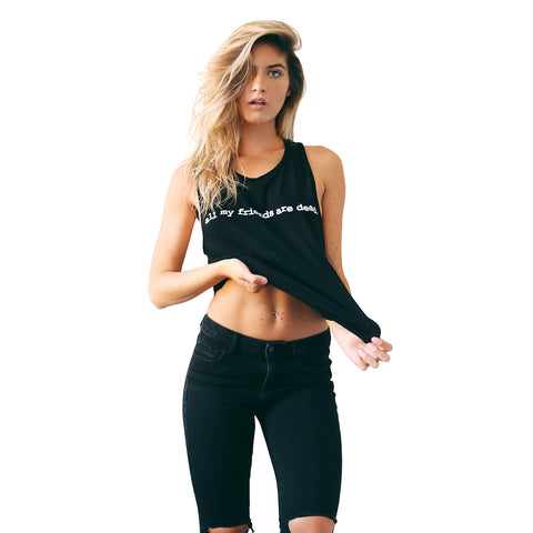 CREEPY LOGO SLEEVELESS CROP
