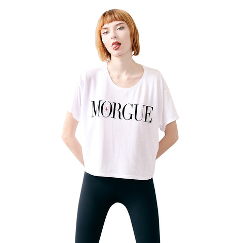 VERONICA & JD CROP TEE